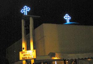 Iluminação da Cruz da Cúpula
